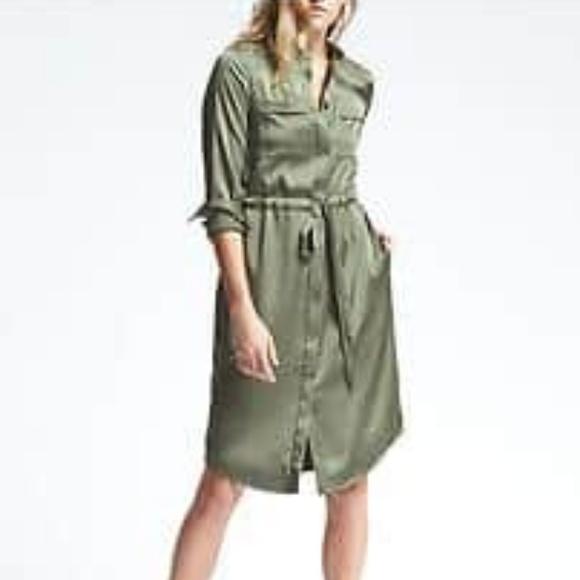 40e6ffc8c70 Banana Republic Tie Waist Shirt Dress